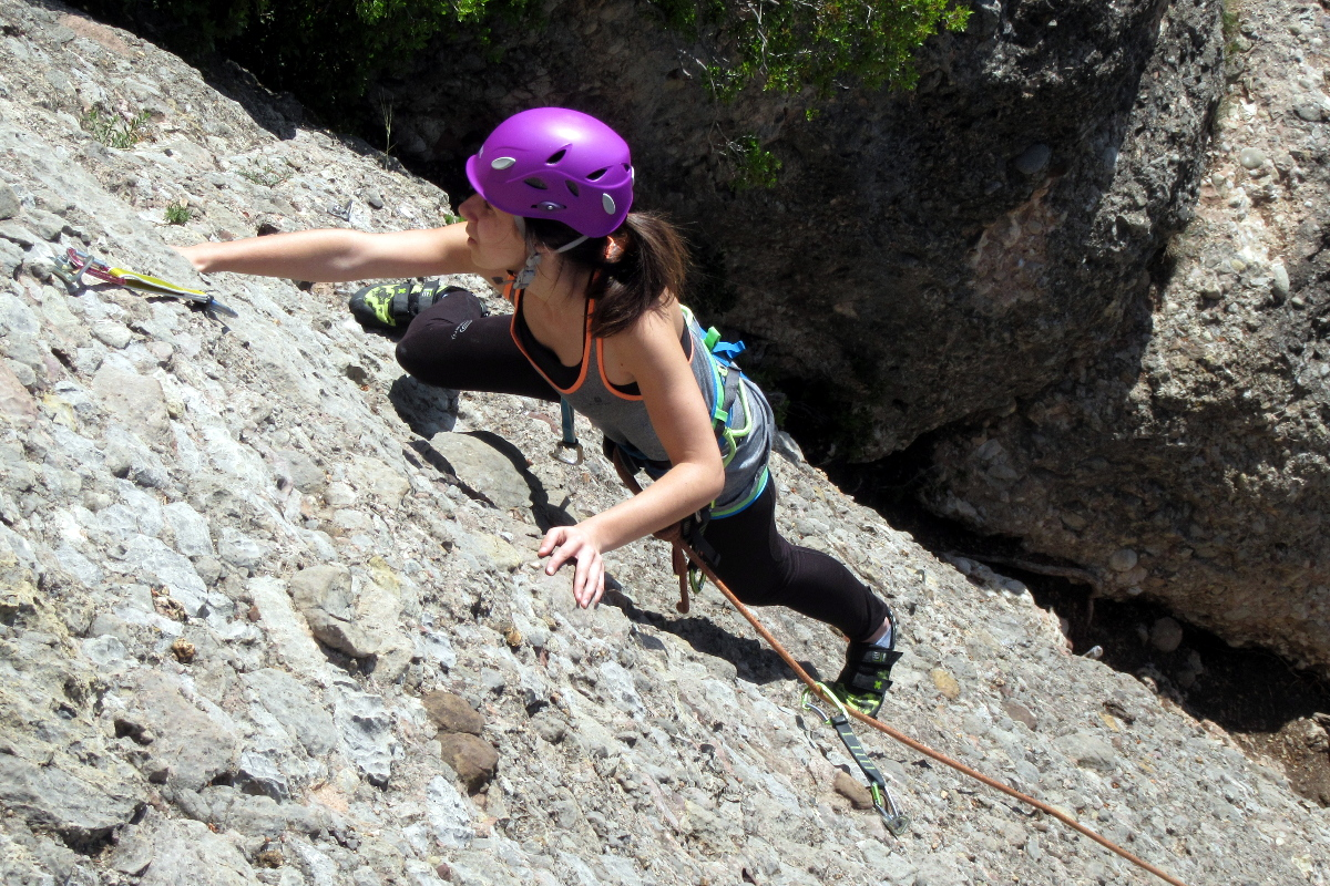 Barcelona lead climbing course